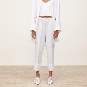 NWOT, ZARA White Linen Blend Pant